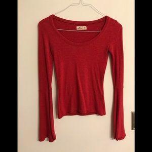 Hollister Bell Sleeve Cotton Shirt